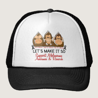 See Speak Hear No Melanoma Skin Cancer 2 Trucker Hat