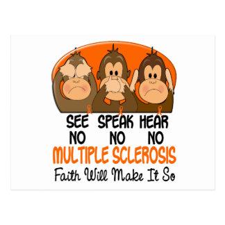 See Speak Hear No Multiple Sclerosis MS 1 Postcard
