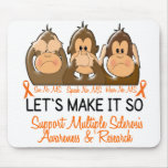 See Speak Hear No Multiple Sclerosis MS 2 Mouse Mats
