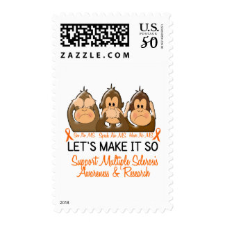 See Speak Hear No Multiple Sclerosis MS 2 Postage