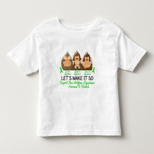 See Speak Hear No Non-Hodgkins Lymphoma 2 Shirts