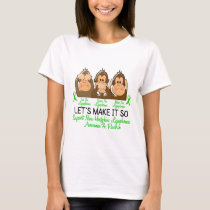 See Speak Hear No Non-Hodgkins Lymphoma 2 T-Shirt