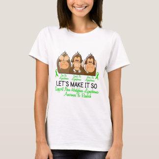 See Speak Hear No Non-Hodgkins Lymphoma 2 T-Shirt