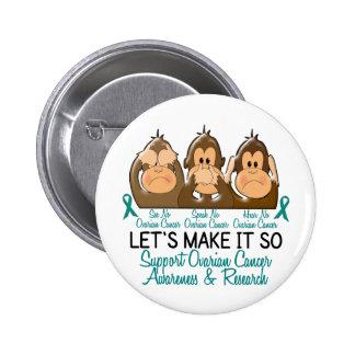 See Speak Hear No Ovarian Cancer 2 Pinback Button
