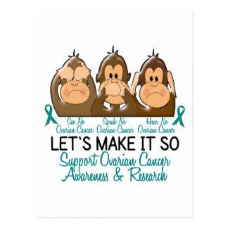 See Speak Hear No Ovarian Cancer 2 Postcard