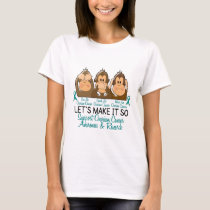 See Speak Hear No Ovarian Cancer 2 T-Shirt