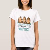 See Speak Hear No Ovarian Cancer 2 T-Shirt