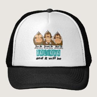 See Speak Hear No Ovarian Cancer 3 Trucker Hat