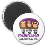 See Speak Hear No Pancreatic Cancer 1 Magnet