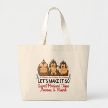 See Speak Hear No Parkinsons Disease 2 Large Tote Bag