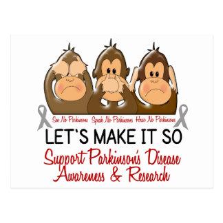 See Speak Hear No Parkinsons Disease 2 Postcards