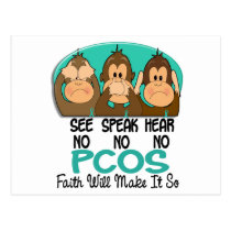 See Speak Hear No PCOS 1 Postcard