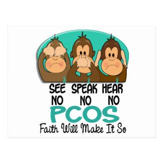 See Speak Hear No PCOS 1 Postcard