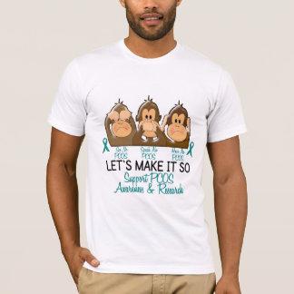 See Speak Hear No PCOS 2 T-Shirt