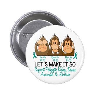 See Speak Hear No Polycystic Kidney Disease 2 Button
