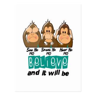 See Speak Hear No Polycystic Kidney Disease 3 Postcard