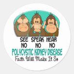 See Speak Hear No Polycystic Kidney Disease PKD 1 Stickers