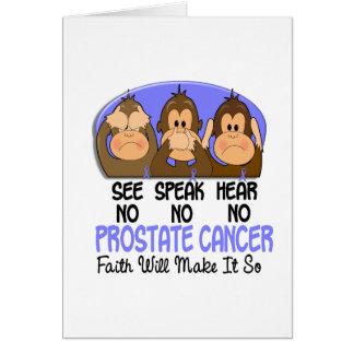 See Speak Hear No Prostate Cancer 1 Card