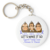 See Speak Hear No Prostate Cancer 2 Keychain