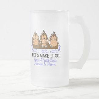 See Speak Hear No Prostate Cancer 2 16 Oz Frosted Glass Beer Mug