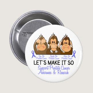 See Speak Hear No Prostate Cancer 2 Pinback Button