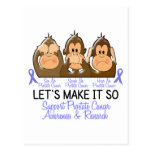 See Speak Hear No Prostate Cancer 2 Postcards