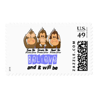 See Speak Hear No Prostate Cancer 3 Stamps