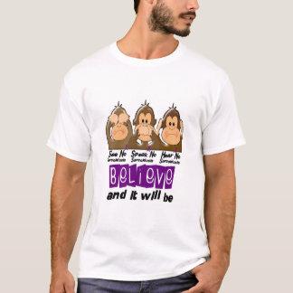 See Speak Hear No Sarcoidosis 3 T-Shirt