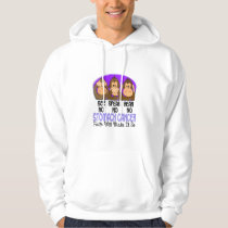 See Speak Hear No Stomach Cancer 1 Hoodie