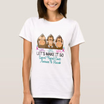 See Speak Hear No Thyroid Cancer 2 T-Shirt
