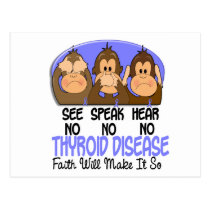 See Speak Hear No Thyroid Disease 1 Postcard