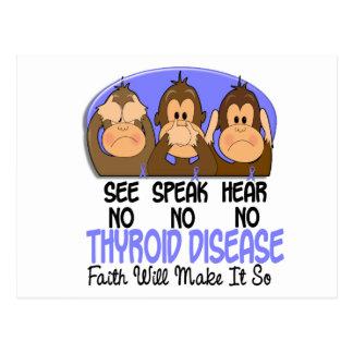 See Speak Hear No Thyroid Disease 1 Postcard