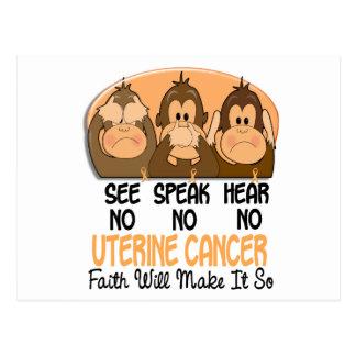 See Speak Hear No Uterine Cancer 3 Postcard