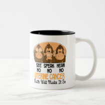 See Speak Hear No Uterine Cancer 3 Two-Tone Coffee Mug