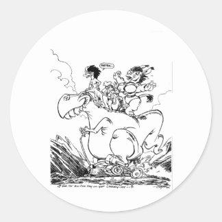 See th' Ew Ess Hay on yer Chebby-lay Round Sticker