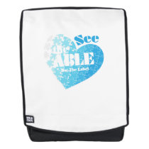 See the Able Not The Label Autism Awareness Gift Backpack