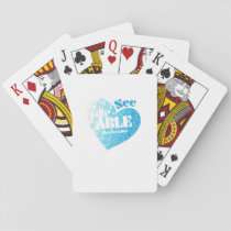 See the Able Not The Label Autism Awareness Gift Playing Cards