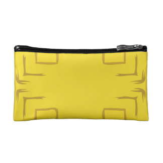 See The Forest Abstract Art In Yellow Makeup Bag
