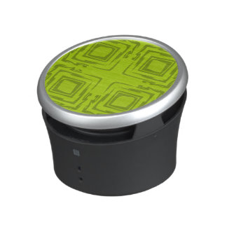 See The Forest Abstract Art Lime Green Speaker