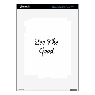 See The Good - Typography - Wisdom iPad 3 Decals