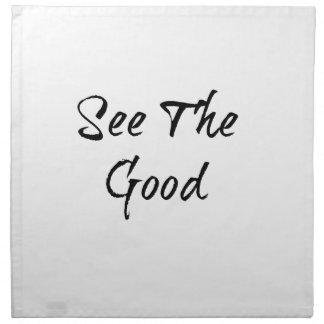 See The Good - Typography - Wisdom Napkin