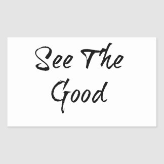 See The Good - Typography - Wisdom Rectangular Sticker