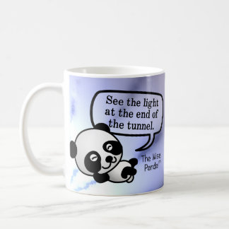 See the light at the end of the tunnel coffee mug