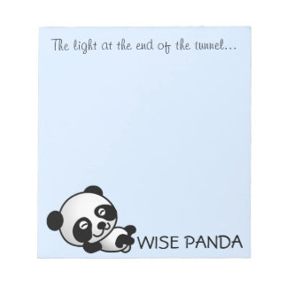 See the light at the end of the tunnel notepad