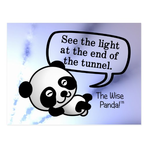 See the light at the end of the tunnel postcard