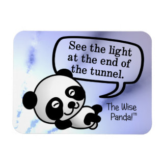 See the light at the end of the tunnel rectangular photo magnet
