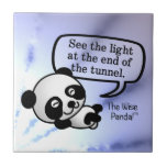 See the light at the end of the tunnel small square tile