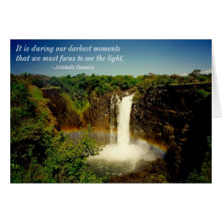 see the light greeting card