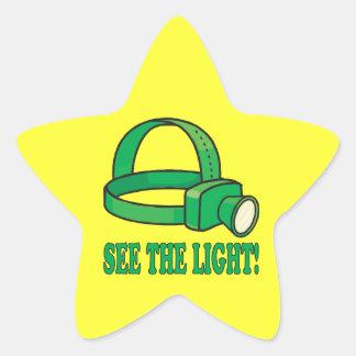 See The Light Star Sticker
