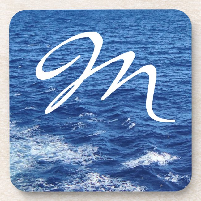 See the Sea Monogrammed Coasters